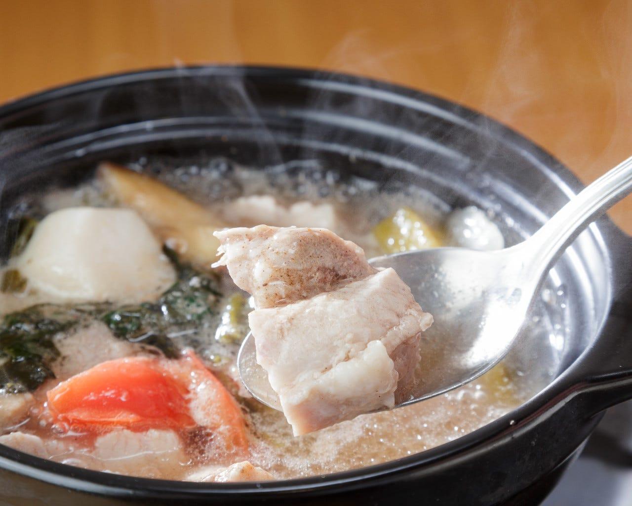 フィリピンバナナが入ったさっぱりとしたスープ