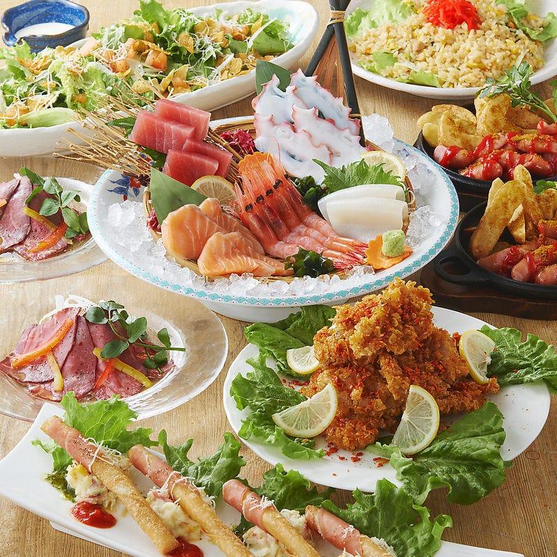 ご予算に応じて、様々な宴会コースをお選び頂けます。