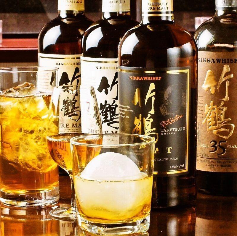 ◆希少なウイスキーを多彩にご用意◆