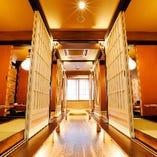 55名まで貸切可能な広々とした個室で歓送迎会もOK◎