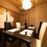 テーブル個室は和の雰囲気が味わえると海外のゲストにも人気です