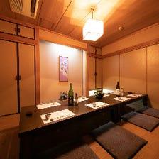 全室が和の趣を感じる個室空間