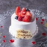 【オプション】誕生日や記念日に♪メッセージ付きケーキ