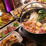 期間限定【飲み放題付】冬のお楽しみ!水炊き・鶏すき焼き・鴨ハリハリ鍋『選べる鍋宴会コース』