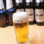 ビールは「生」「瓶」「ノンアルコール」をご用意しています