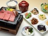 神戸牛肩ロースの鉄板あぶり焼き定食
