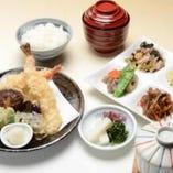 天ぷら盛り合わせ定食