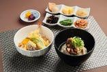にゅう麺とミニ天丼セット
