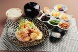 丹波黒鶏と長芋の竜田揚げ定食