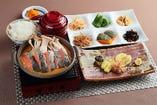 秋鮭ときのこの京風味噌焼き定食