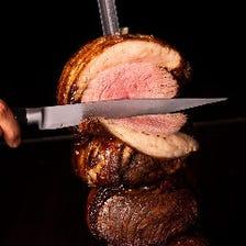 【平日】いろいろな肉が食べ放題!シュラスコランチ(ソフトドリンク付)