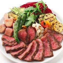 埼玉県産  武州黒毛和牛(A4)和牛のグリル 秩父ルージュの赤ワイン塩を添えて
