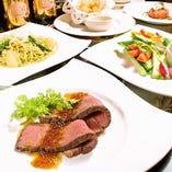 お酒はもちろん、お食事も堪能できるお得なコースが登場!