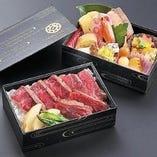 ステーキ重と八寸の贅沢お弁当!!