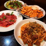 【2時間飲み放題付】料理&テーブル・ショーチャージが全部セット『パスタと生ハムコース』[全4品]
