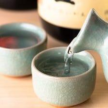 こだわりの日本酒をお刺身と・・