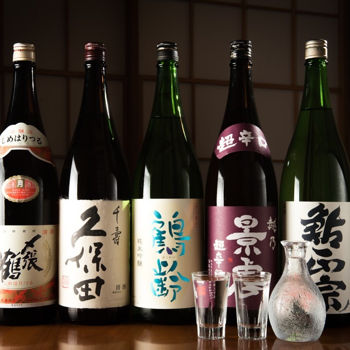 新潟の地酒もご用意しております