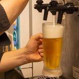 【神泡の一杯】 泡まで楽しめるビールを飲み放題でもどうぞ