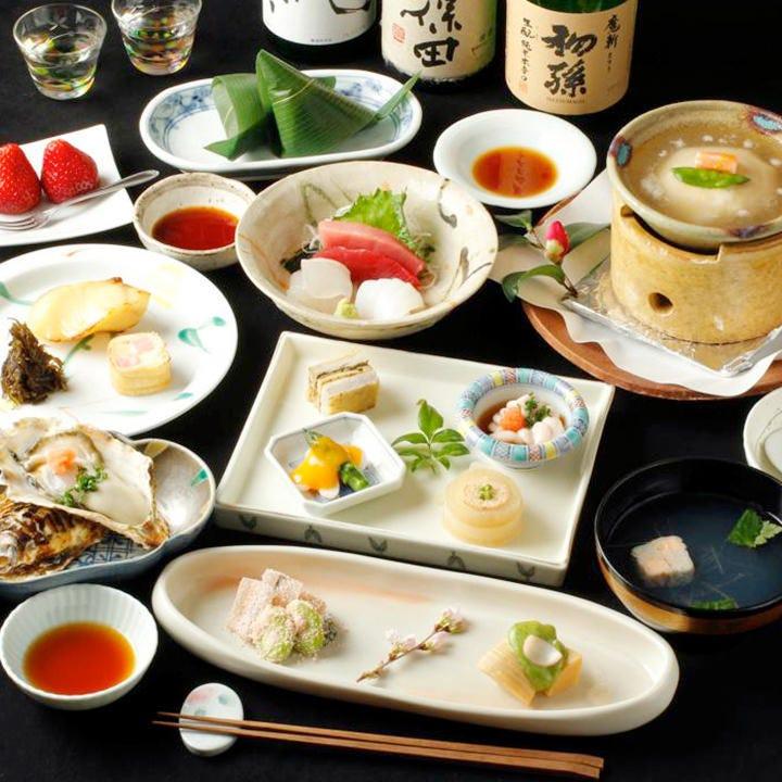 四季折々の本格和食コースは4600円~