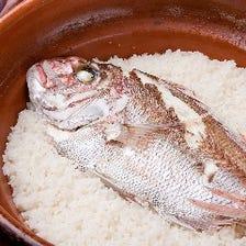 土鍋で炊き上げる『鯛めし』