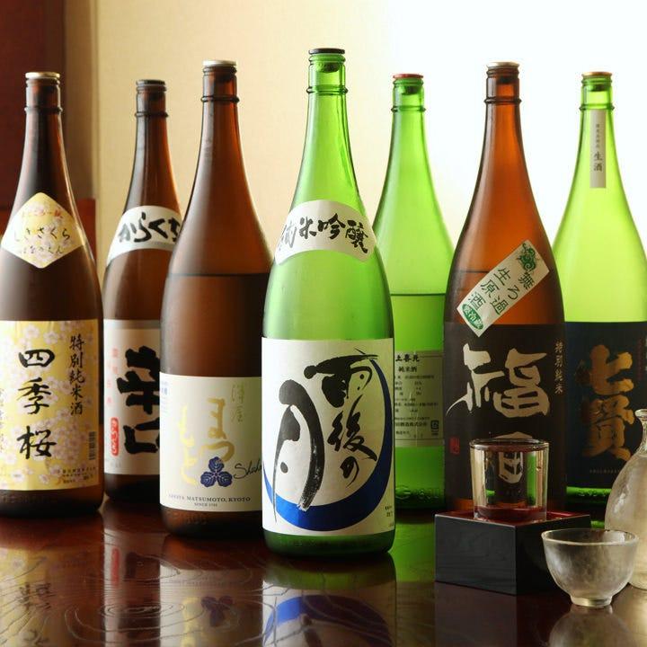 季節に合わせたお酒など月替りで異なる銘柄を仕入れております