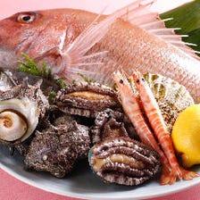 大将自ら市場に足を運び仕入れる鮮魚