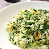 その日おすすめの新鮮京野菜を使うヘルシー炒飯もおすすめ