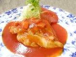 トリのトマト煮