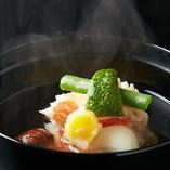 「梅」六品 【婆娑羅、定番の味をお昼にゆっくりと】