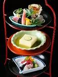 「雅」【見た目も楽しい三段重ねの前菜から始まる昼コース】
