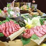 【2時間飲み放題付】海鮮・牛肉盛り食べつくしコース