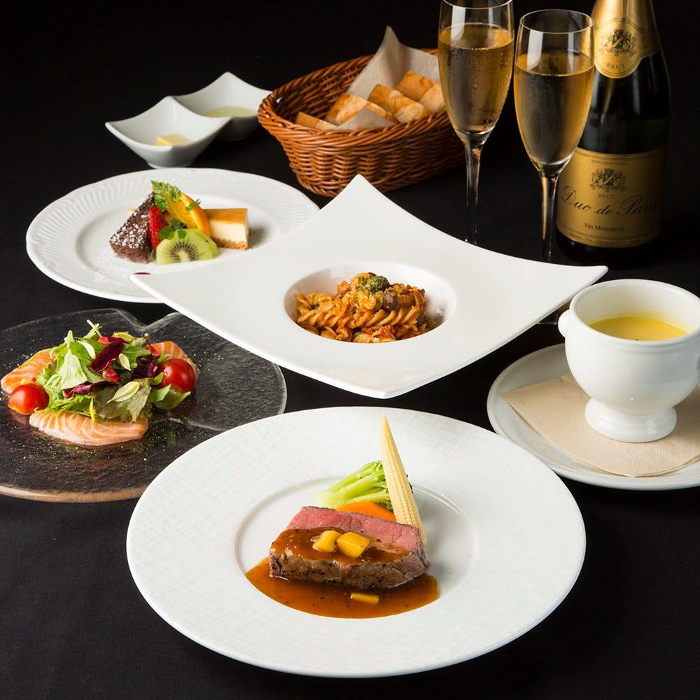 【プレシャスコース】記念日・デートに。前菜やメインが選べる!フルコース仕立て♪4000円