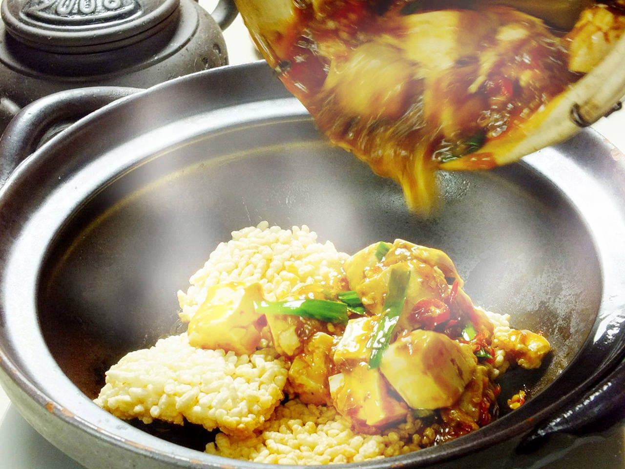 音、香り、食感、当店オリジナルの麻婆豆腐をお楽しみ下さい。