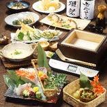 旬の食材を使用した宴会コースは宴会におすすめ