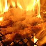 黒豚バラ串(塩、タレ、黒胡椒)
