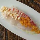 鯛のチャイニーズカルパッチョ