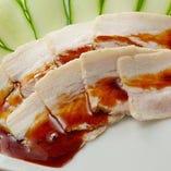 豚肉の薄切り 特製ソース