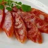 腸詰(中華サラミ)のピンチョス