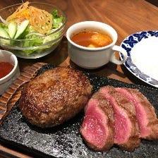 熟成肉ハンバーグ&ステーキセット
