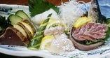 季節によって旬の鮮魚が味わえるお造里の盛合わせ。