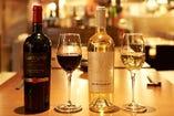 店長が厳選したワインは和洋問わず料理を引き立てます。