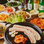 韓国逸品料理全60品を存分に堪能!飲み放題付き『食べ飲み放題コース』