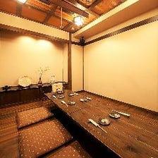 大豆屋の充実!完全個室