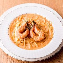 ウニと海老のクリーム和えスパゲッティ