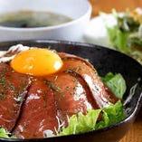 ローストビーフ桜島丼