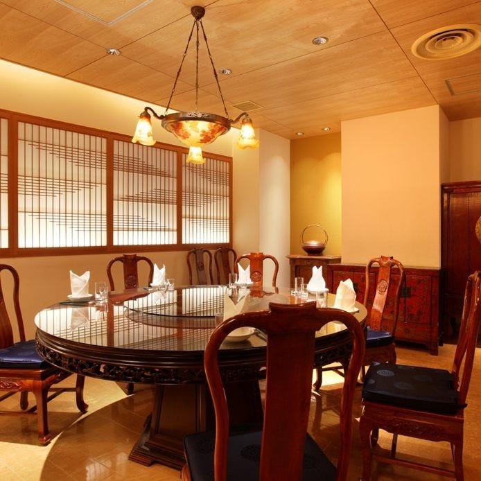 円卓 テーブル席・完全個室(壁・扉あり)・4名様~13名様