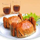 上海蟹No,1ブランド陽澄湖産 上海蟹の姿蒸し