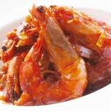 車海老の中国醤油炒め