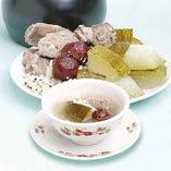 【夏の例湯】冬瓜、ヤマイモ、ハトムギの健康スープ