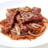 香港風ステーキ ブラックペッパーソース